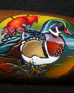 Boonducker Brands engraved and handpainted calls - wood duck - heritage calls - gift shop