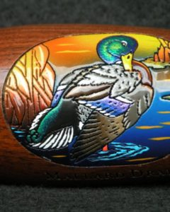Boonducker Brands engraved and handpainted calls - mallard - heritage calls gift shop
